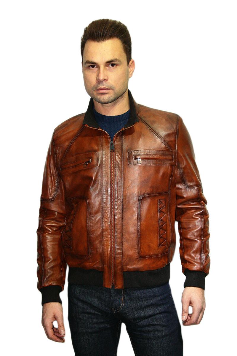 Куртка кожаная мужская Oscar Fur 314 Рыжий
