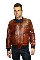 Куртка кожаная мужская Oscar Fur 314 Рыжий, фото 1