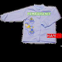 Детская кофточка р. 68 с начесом  демисезонная ткань ФУТЕР 100% хлопок ТМ Алекс 3222 Голубой1