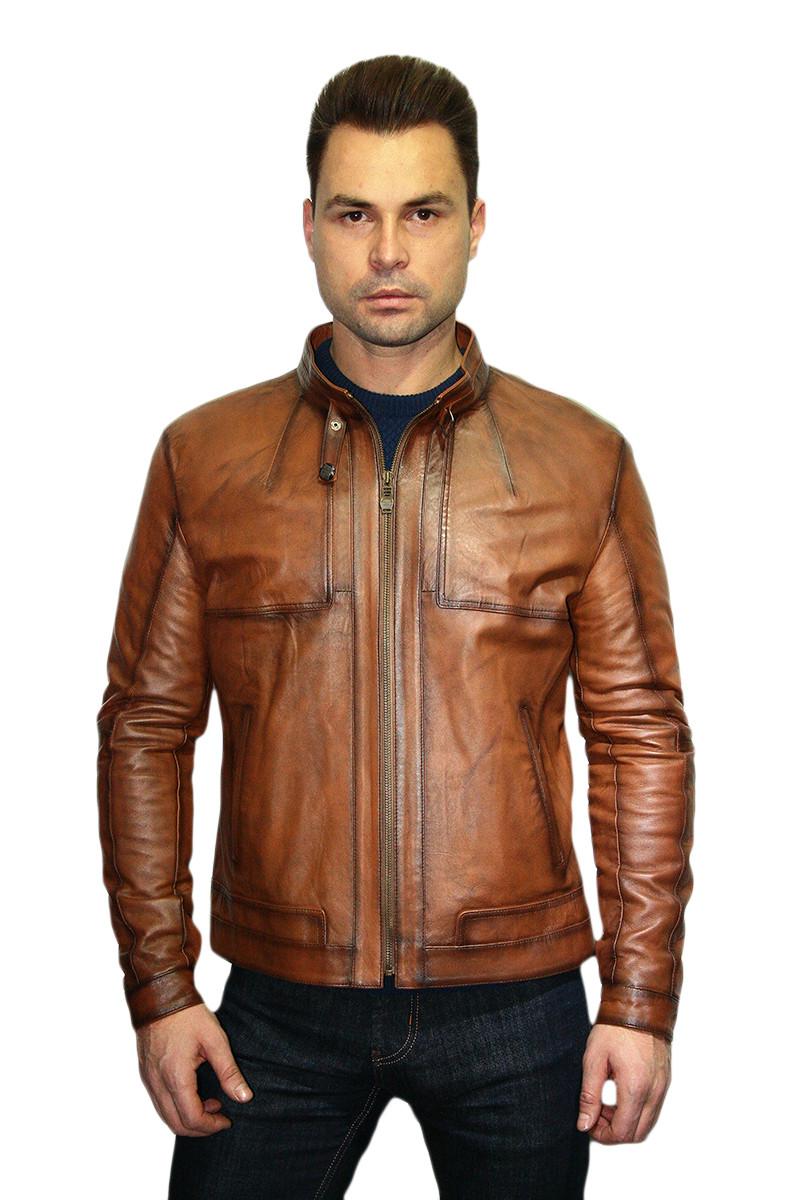Куртка кожаная мужская Oscar Fur 302 Рыжий