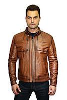 Куртка кожаная мужская Oscar Fur 302 Рыжий, фото 1