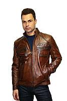 Куртка кожаная (натуральная) для мужчин , фото 1