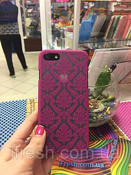 Чехол Кружево для iPhone 7, розовый