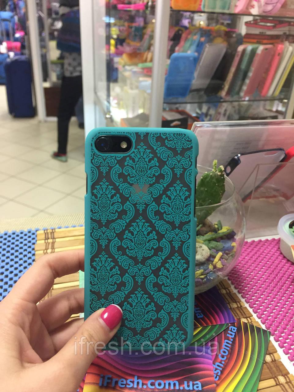 Чехол Кружево для iPhone 7, ментоловый