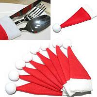 Рождество Санта шляпа , кармашек для столовых приборов , фото 1