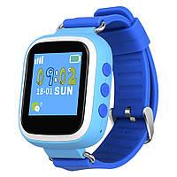 Оригинальные детские часы с GPS трекером Q80 (синие) c цветным экраном
