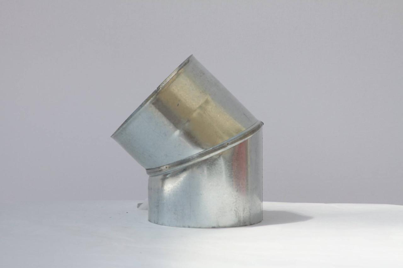 Коліно вентиляційний оцинковка ф160, 45гр