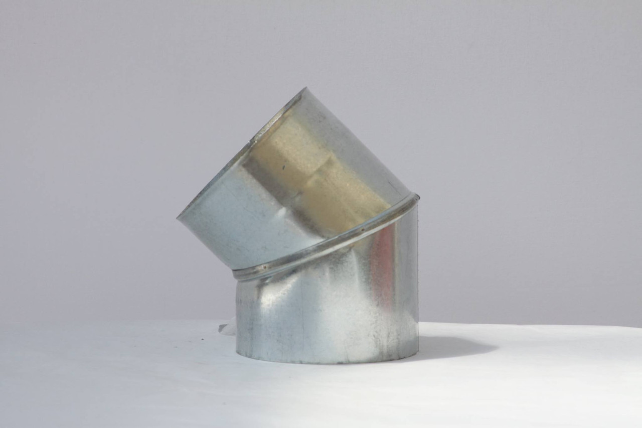 Колено вентиляционное оцинковка ф110, 45гр - Дымоход мастер в Киеве