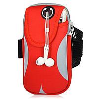 Сумка на руку для телефона для бега и спорта Red Gray