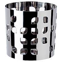 VACKERT Украшение д/свечи в стеклян стакане, нержавеющ сталь лист