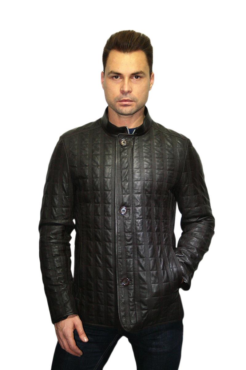 Куртка стеганная для мужчин (темно-коричневая) /  man jacket 335