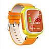 Оригинальные детские часы с GPS трекером Q80 желтые c цветным экраном