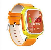Оригинальные детские часы с GPS трекером Q80 желтые c цветным экраном, фото 1