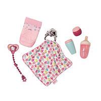Набор аксессуаров для куклы BABY BORN - УТИНЫЕ ИСТОРИИ (бутылочки, подгузн., пустышка,игр.-одеяльце) g822173