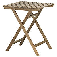 ASKHOLMEN Садовый стол, складной серо-коричневый серо-коричневая морилка
