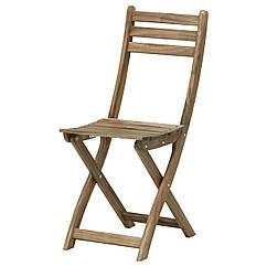 ASKHOLMEN Садовый стул, складной серо-коричневый серо-коричневая морилка 502.400.31