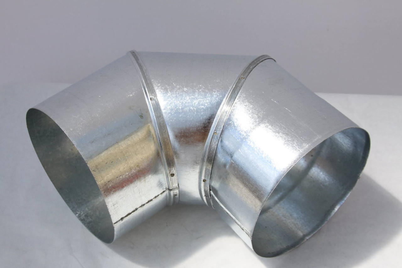 Колено вентиляционное оцинковка ф200, 90гр