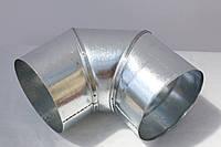 Колено вентиляционное оцинковка ф130, 90гр