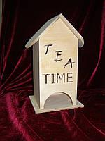 Домик коробка для чайных пакетиков TEA TIME (10 х 10 х 23 см)