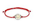 Браслет красная нить Клевер серебро 925 пробы, фото 3