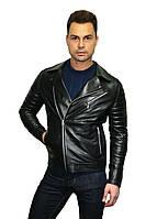 Мужская куртка косуха, натуральная кожа