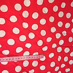 Поплин красный в горохах отрез 90см при шир 145см цена за отрез 72грн есть другие метражи, фото 2