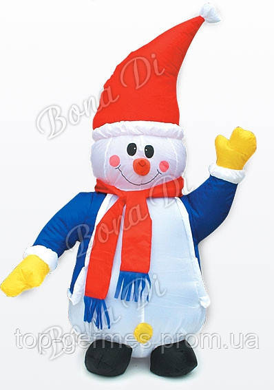"""Надувающаяся фигура """"снеговик"""" 120см"""