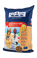 Корм для собак Клуб 4 Лапы для собак для активных собак 12 кг