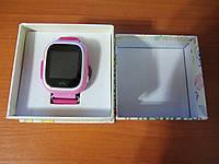 Детские умные gps часы Smart baby watch Q100 Pink Оригинал На русском языке