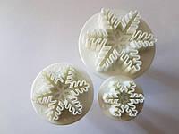Каттер вырубка снежинка 3 шт.для глины,полимерных масс,мастики (пластик)