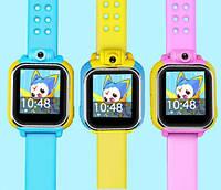 Детские умные gps часы Smart baby watch Q200(GW1000) 3G+камера Blue Оригинал На русском языке, фото 4