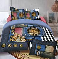 Комплект постельного белья (евро размер) № 726