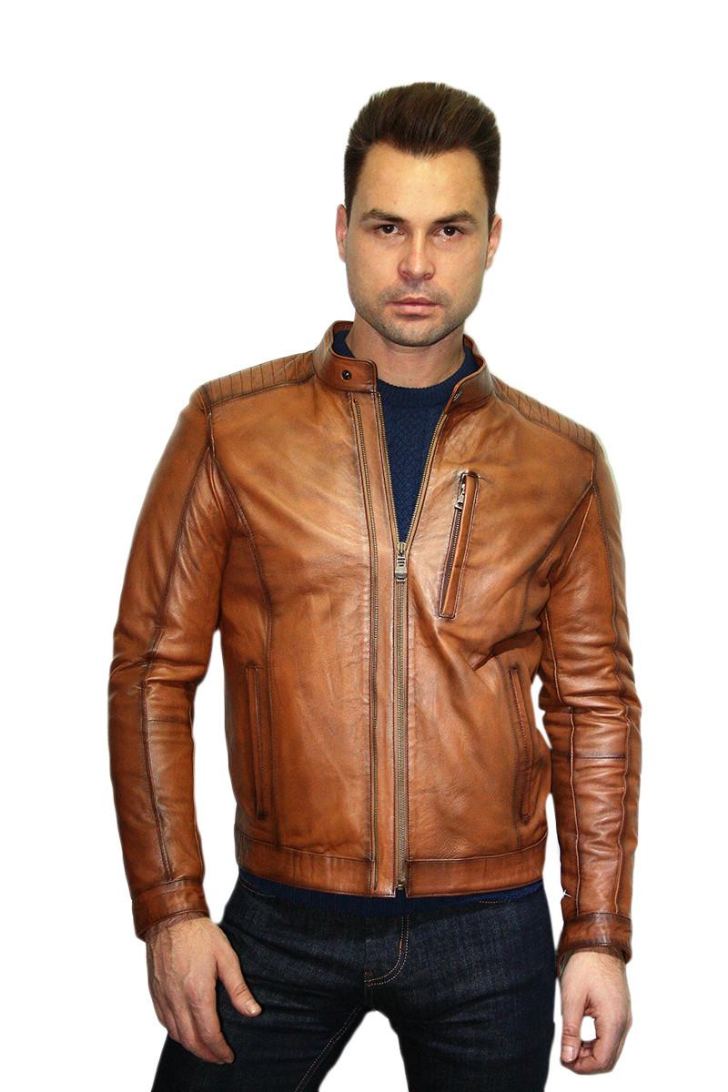 Куртка кожаная мужская Oscar Fur 320 Рыжий