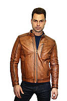 Куртка кожаная мужская Oscar Fur 320 Рыжий, фото 1