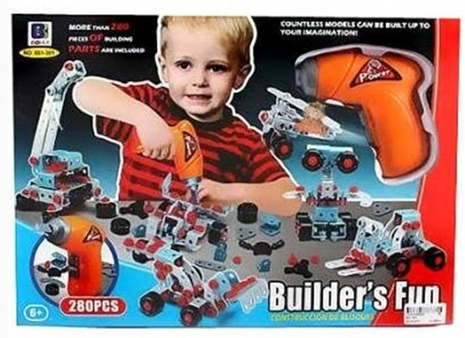 Дитячий конструктор 661-302, 550 деталей, шуруповерт