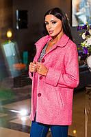 Батальное розовое  пальтишко на подкладке. Арт-9273/57