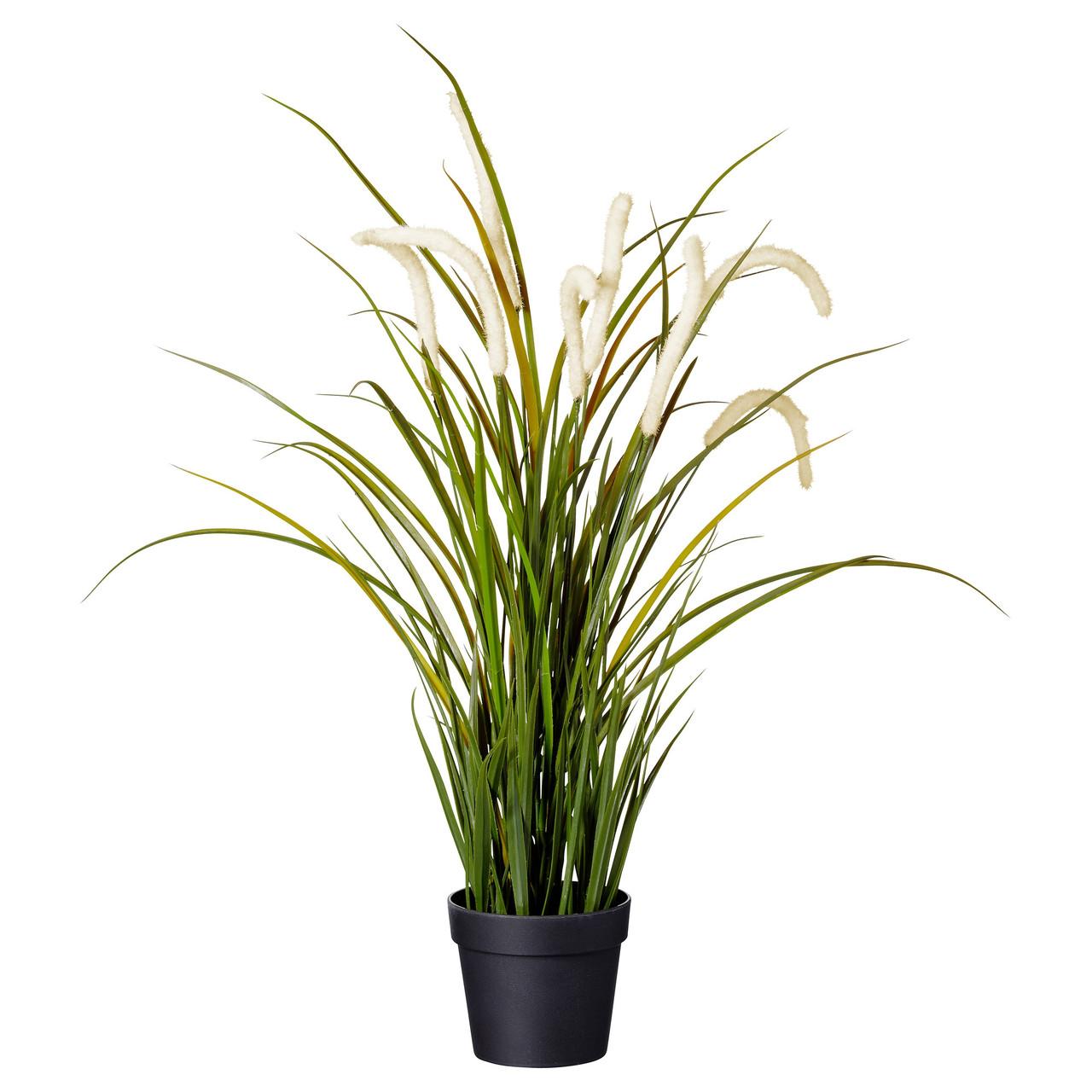Искусственное растение в горшке IKEA FEJKA трава 501.769.78