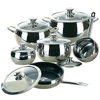 Посуда Maestro 12 предметов, ручки серебрянного цвета
