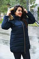Женский зимний пуховик с капюшоном батал 320МШ