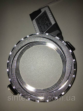 Светодиодная панель Lemanso LM 490 9W 4500K кругл. алюминий, хром  Код.58798, фото 2