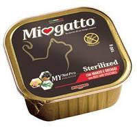 Консервы для стерилизованных котов Morando Miogatto Sterilized с говядиной и овощами 100 г