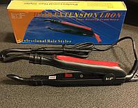 Щипцы для наращивания волос с термостатом красно-черные