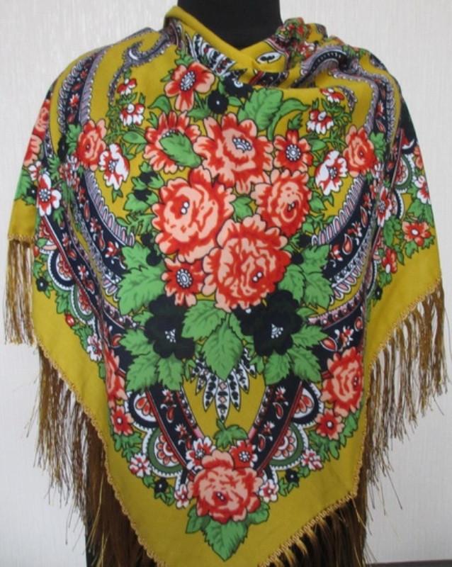Шерстяной украинский платок Турция 9