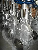 Засувка 30с64нж Ду100 Ру25 лита сталева фланцева з висувним шпинделем