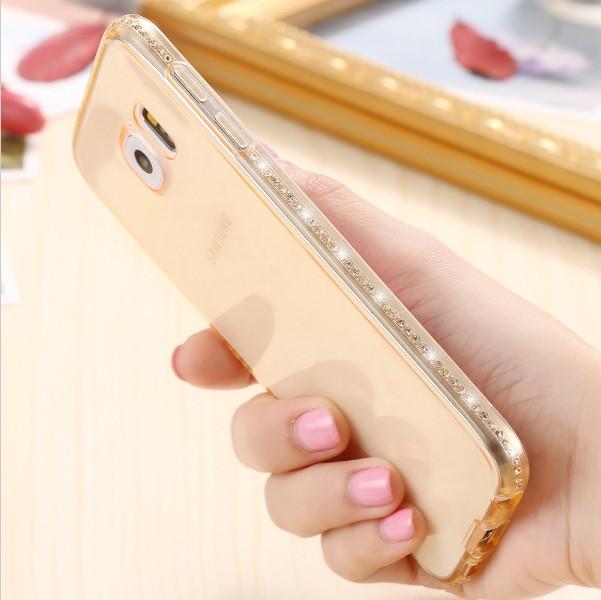 Чехол для Samsung Galaxy S7 Edge G935 силиконовый со стразами
