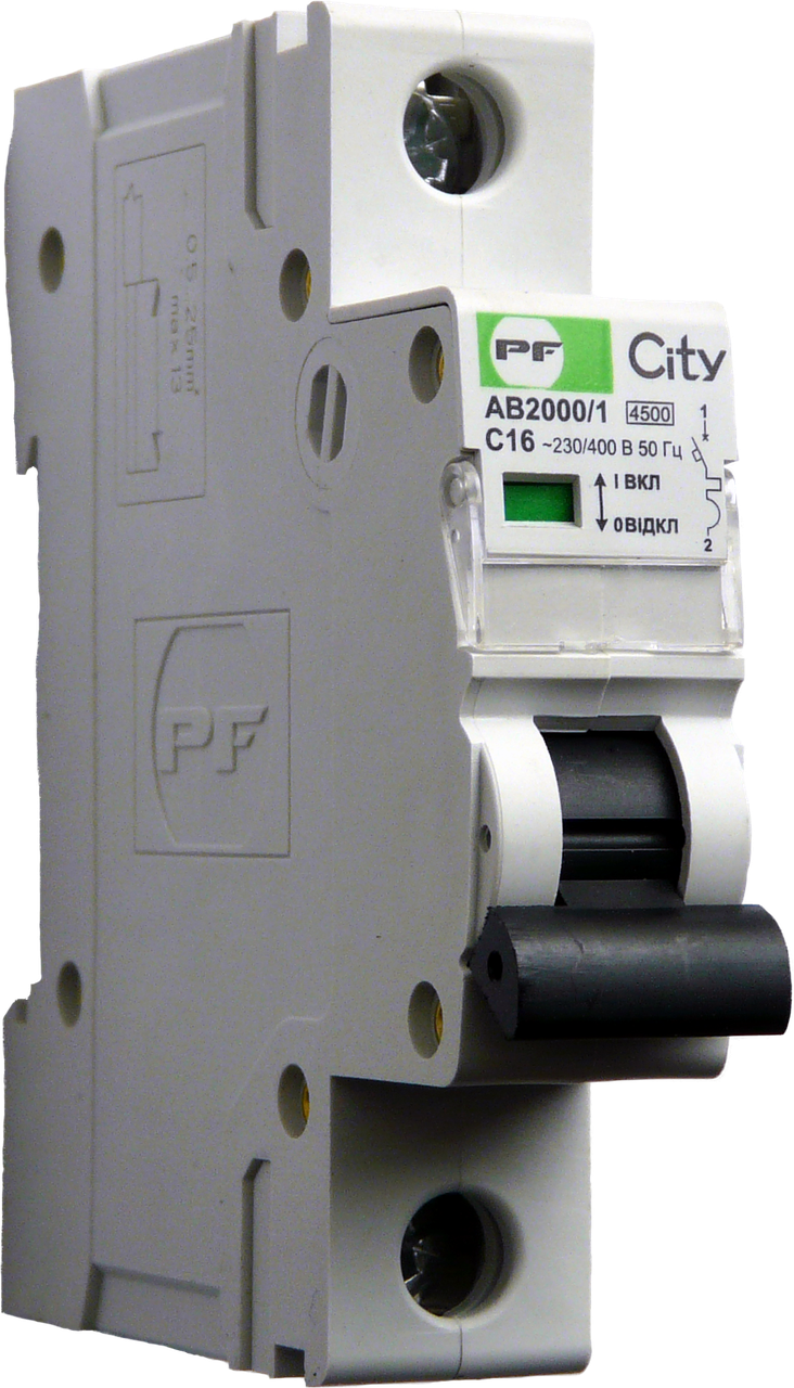 Автоматический выключатель City AB2000 1р С 16А 4,5кА Промфактор