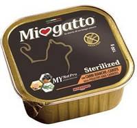 Консервы для стерилизованных котов Morando Miogatto Sterilized с белым мясом и морковью 100 г