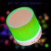 Мини-Колонка Bluetooth UBS9 TF, USB для Android/ iPhone/ iPad/ iPod. jack 3.5 мм, 3.0, Аккумулятор, Зеленый