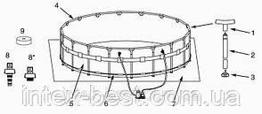 Intex 26324 - каркасный бассейн Ultra Frame 488x122 см, фото 3