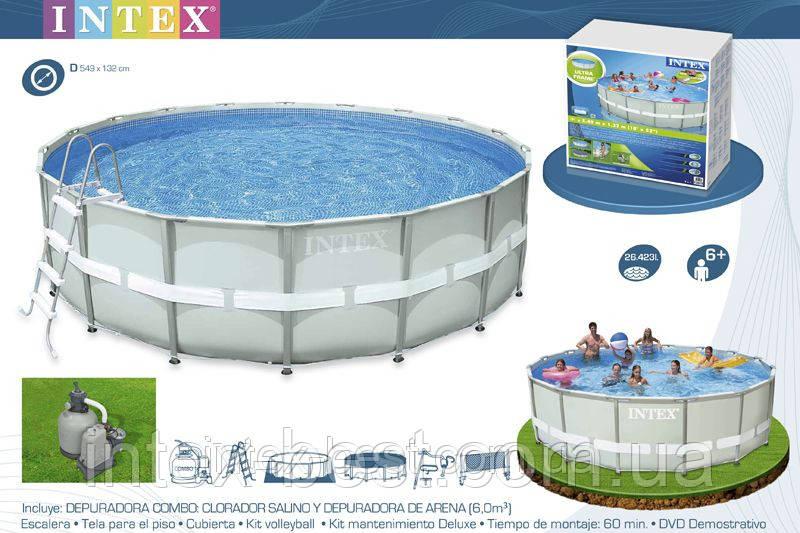 Intex 28334 - круглый каркасный бассейн Ultra Frame